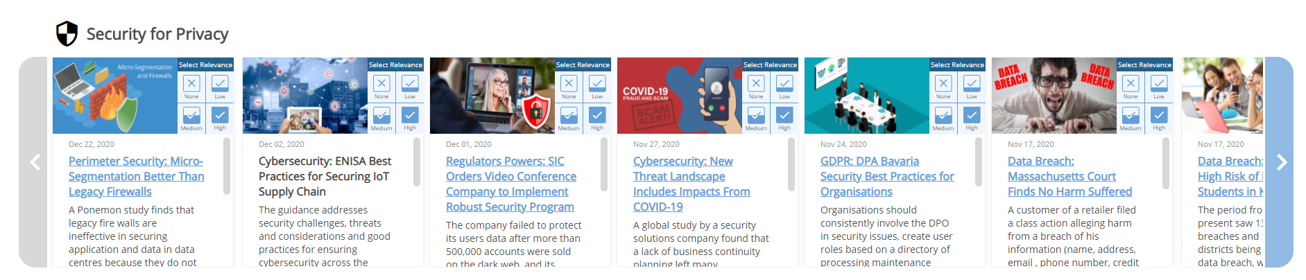 SNAPSHOT OF SECURITY RELATED STORIES