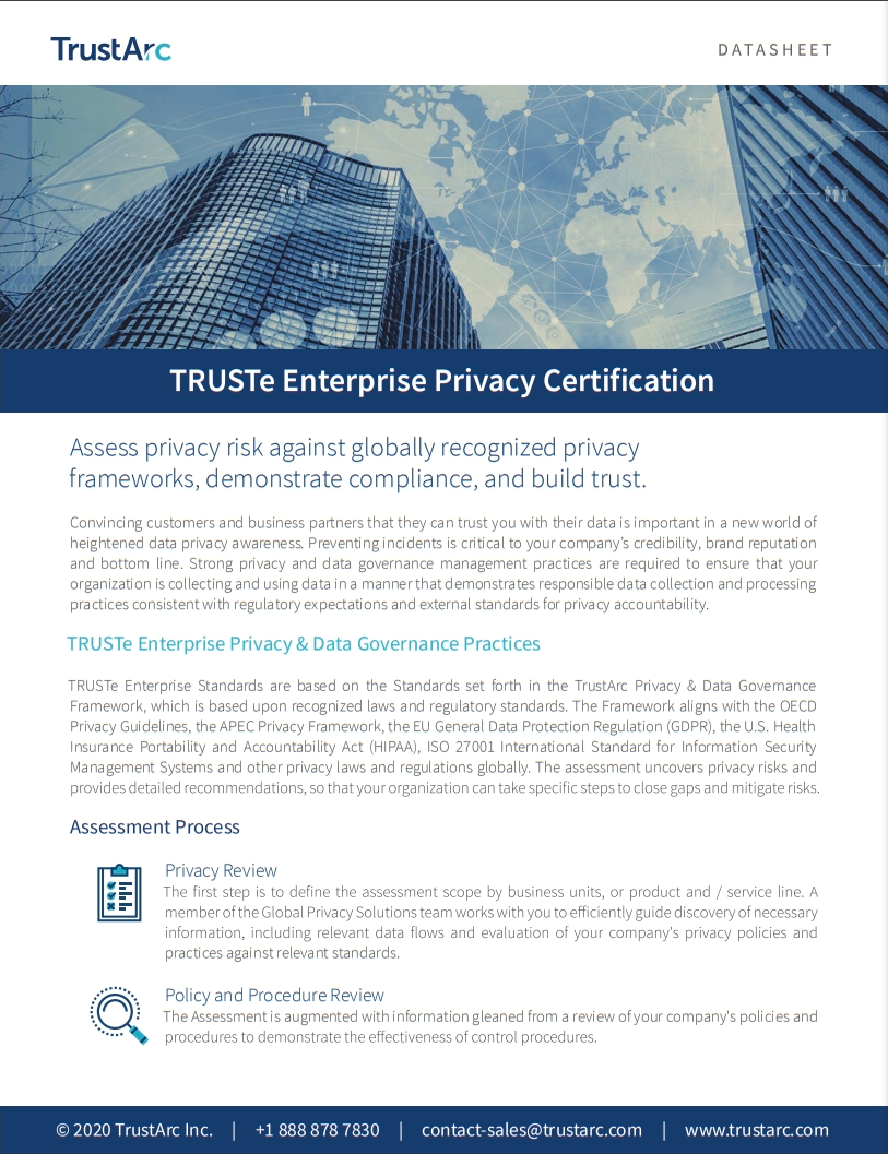 International Privacy Verification Datasheet