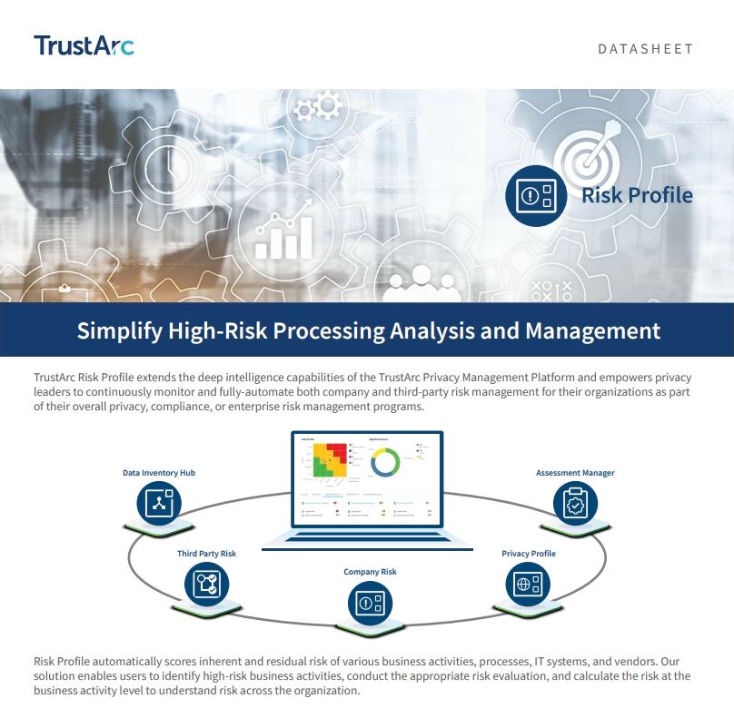 Risk Profile Datasheet