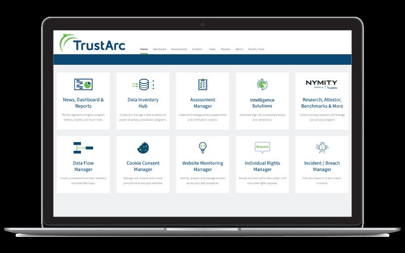 TrustArc Laptop Dashboard